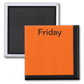 Color Code Day of Week Magnet Calendar Visual Tool
