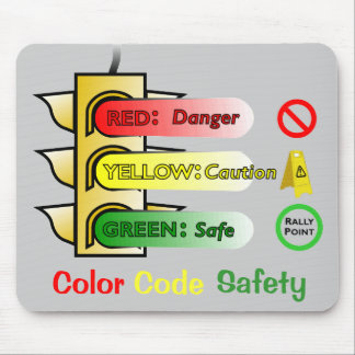 Color Code Safety Mousepads