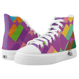 Color Combination Printed Shoes