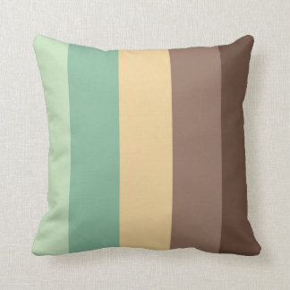 color combination stripe pillow- mint choco throw pillow