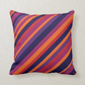 color combination stripe pillow- sunset throw pillow