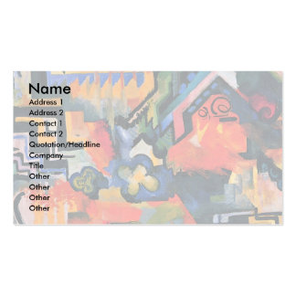 Color Composition (Hommage à Sebastin Johann Bach) Business Card