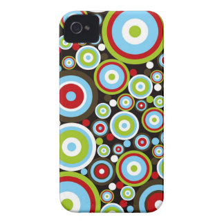 Color Concentric Circles Pattern iPhone 4 CaseMate iPhone 4 Case