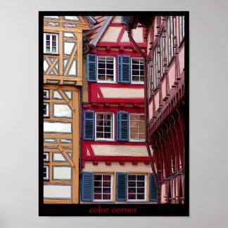 color corner poster