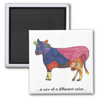 Color Cow Magnet
