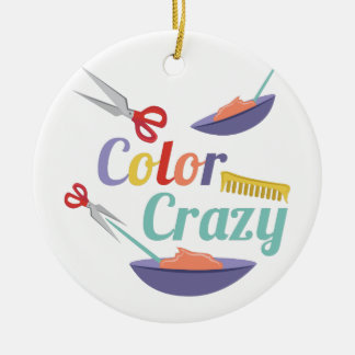 Color Crazy Christmas Ornament