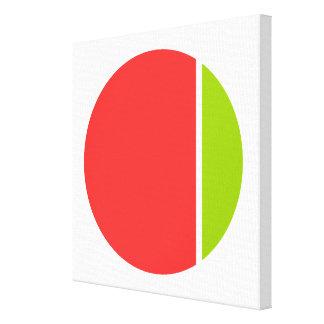 color crush circles canvas print