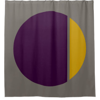 color crush circles shower curtain
