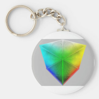 Color-Cube Basic Round Button Key Ring