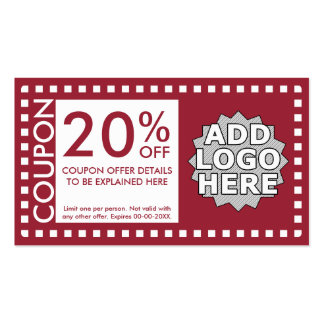 color customizable coupon pack of standard business cards