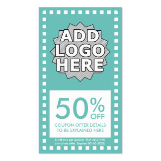 color customizable simple coupon pack of standard business cards