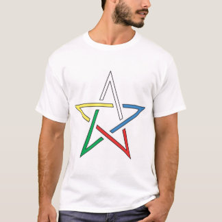 Color Cut Pentagram T-Shirt