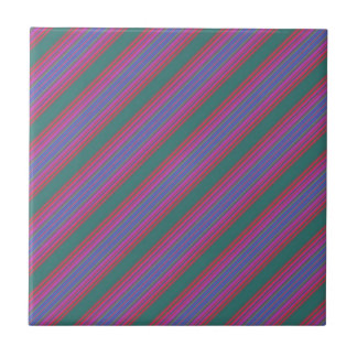 Color Diagonal Stripe Tile