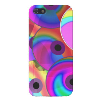 Color Disks Cases For iPhone 5