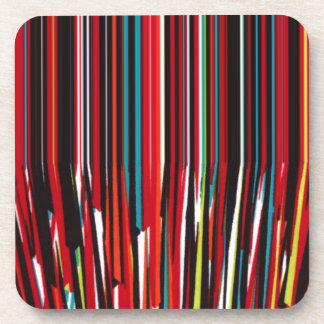 Color Drips Rainbow Trips Beverage Coasters