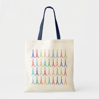 color eiffel towers pattern