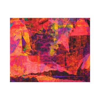 Color embankment canvas print