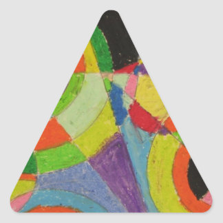 Color Explosion by Robert Delaunay Triangle Sticker