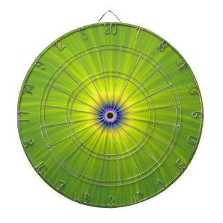 Color Explosion in Green and Yellow Dartboard