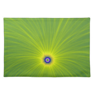 Color Explosion in Green and Yellow Placemat