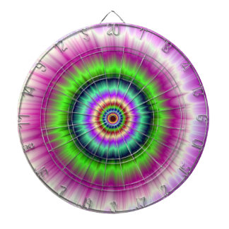 Color Explosion in Pink and Green Dartboard