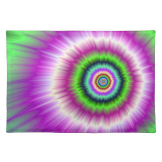 Color Explosion in Pink and Green Placemats