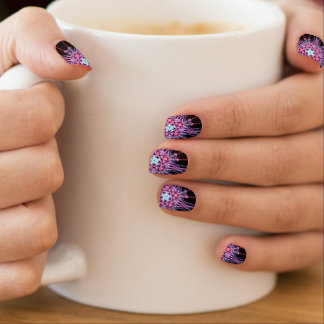 Color explosion minx nail art