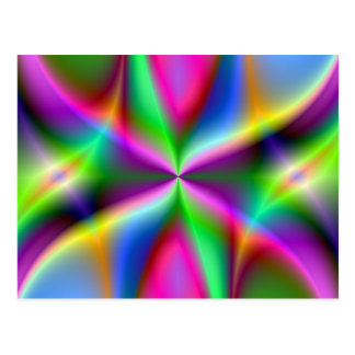 Color Explosion Rainbow Fractal Art Gifts Postcard