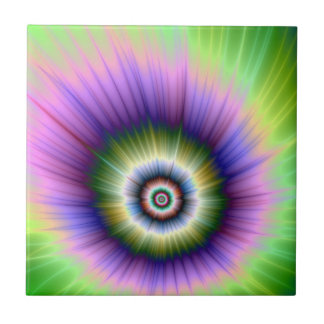 Color Explosion Tie-dyed tile