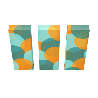 Color Explosion Wrapped Canvas (Palette 3) Stretched Canvas Prints