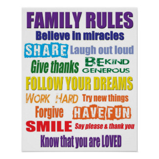Color Family Rules Poster