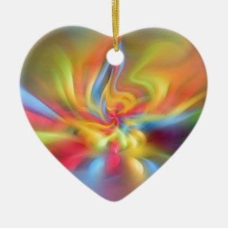 Color flame storm ceramic heart decoration