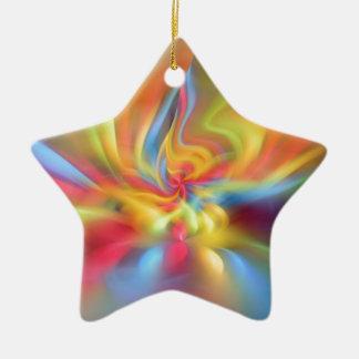 Color flame storm ceramic star decoration