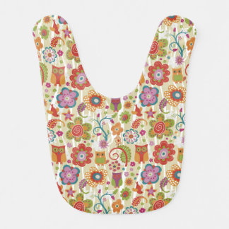 Color Floral and Owl Bibs