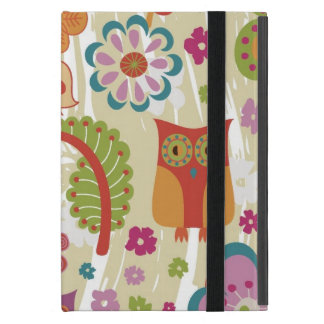 Color Floral and Owl iPad Mini Case