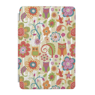 Color Floral and Owl iPad Mini Cover