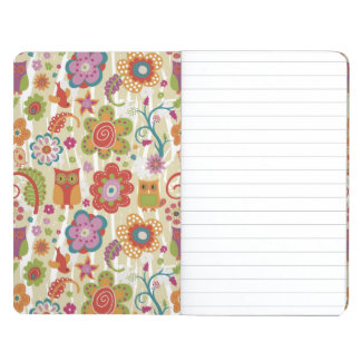 Color Floral and Owl Journal