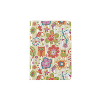 Color Floral and Owl Passport Holder