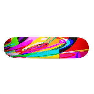 Color Fountain Custom Skate Board