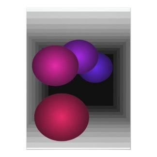 Color Fun Optical Illusion Infinity Spheres 14 Cm X 19 Cm Invitation Card