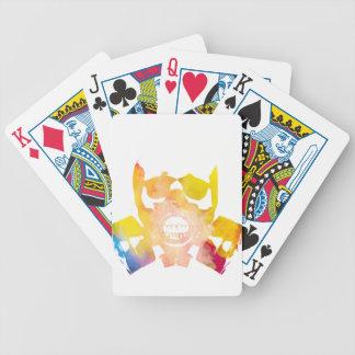 Color gas mask poker deck
