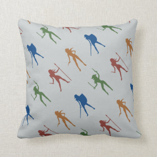 Color Girls Pattern Throw Pillow Cushions