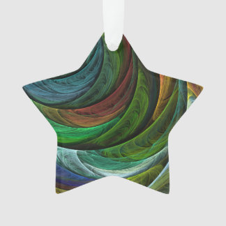 Color Glory Abstract Art Acrylic Star Ornament