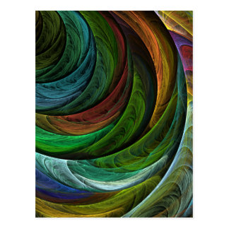 Color Glory Abstract Art Postcard