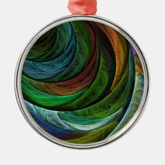 Color Glory Abstract Art Round Christmas Ornament
