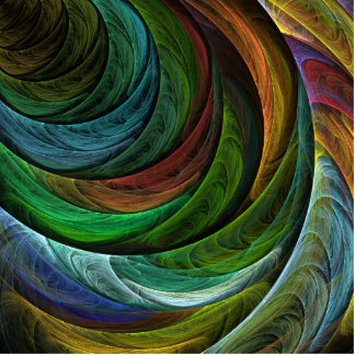 Color Glory Abstract Art Standing Photo Sculpture