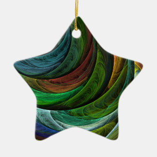Color Glory Abstract Art Star Ornament