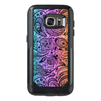 Color Gradient Glitter Texture & Black Paisley OtterBox Samsung Galaxy S7 Case
