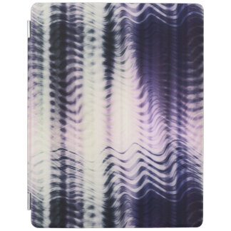 Color gradient iPad cover with abstract waves