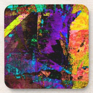 Color Grunge Design Coaster